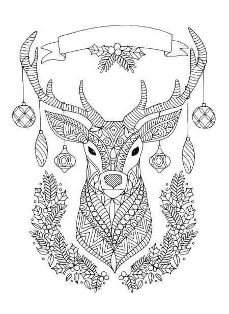 Line Work Representing Leading Artists Who Produce Children S And Decorative Work To Commi Christmas Coloring Sheets Reindeer Drawing Christmas Coloring Pages