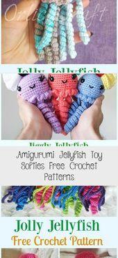 Photo of Amigurumi Jellyfish Toy Softies Free Crochet Patterns – Toys  Amigurumi Jellyfis…