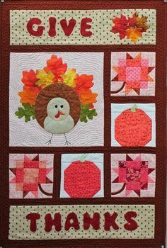 thanksgiving wall hanging quilt pattern free - Google Search | wk ... : free thanksgiving quilt patterns - Adamdwight.com