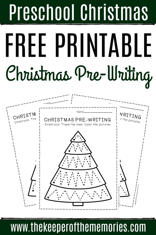 Free Printable Pre Writing Christmas Preschool Worksheets Prewriting Activities Preschool Writing Activities For Preschoolers Preschool Worksheets [ 1500 x 1000 Pixel ]