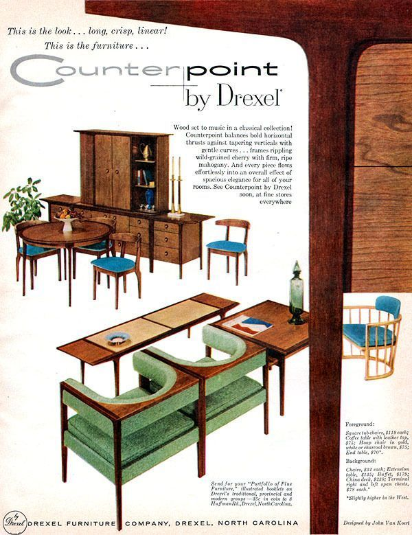 Vintage Counterpoint Ad Drexel Heritage. Drexel Is Available At Ennis Fine  Furniture #Boise #