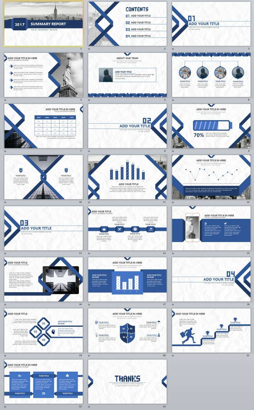 23 Blue Summary Report Powerpoint Templates Powerpoint Presentation Design Powerpoint Design Templates Presentation Design Template