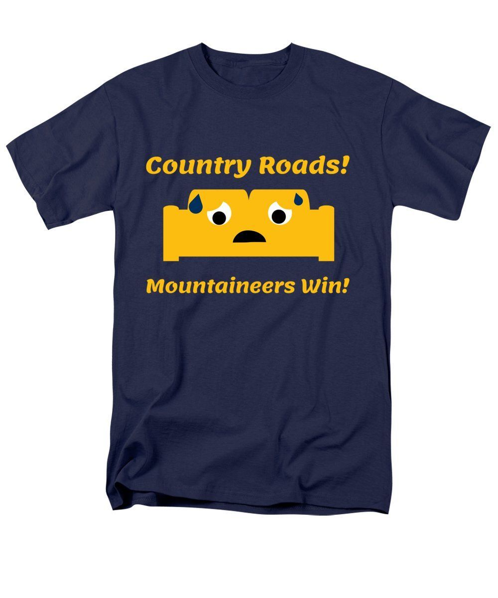 Country Roads Cute Couch T-Shirt for Sale by Aaron Geraud #wvumountaineers Funny West Virginia Shirts and Gift Ideas. WVU Mountaineers. #wvumountaineers