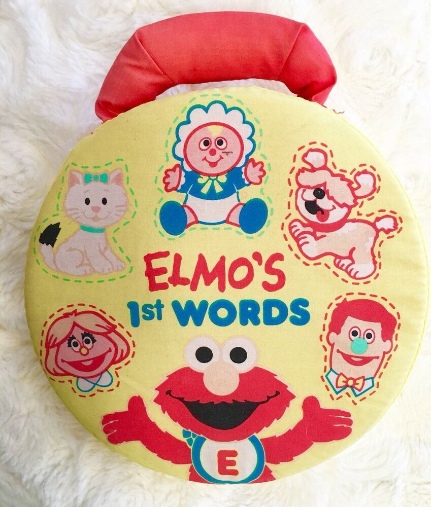 Details about VTG Elmo 1st Words Soft Preschool Toy Talking