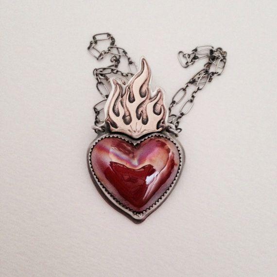 Sterling silver sacred heart pendant necklace sacred heart sterling silver sacred heart pendant necklace aloadofball Images