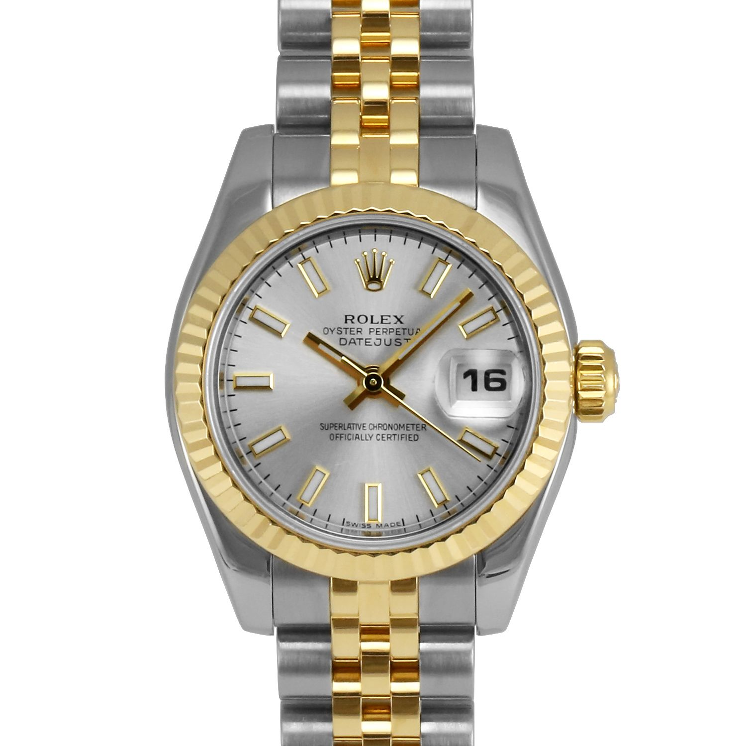 men s rolex datejust stainless steel blue stick dial fluted bezel ladies rolex datejust steel and gold silver stick dial fluted bezel jubilee band new style