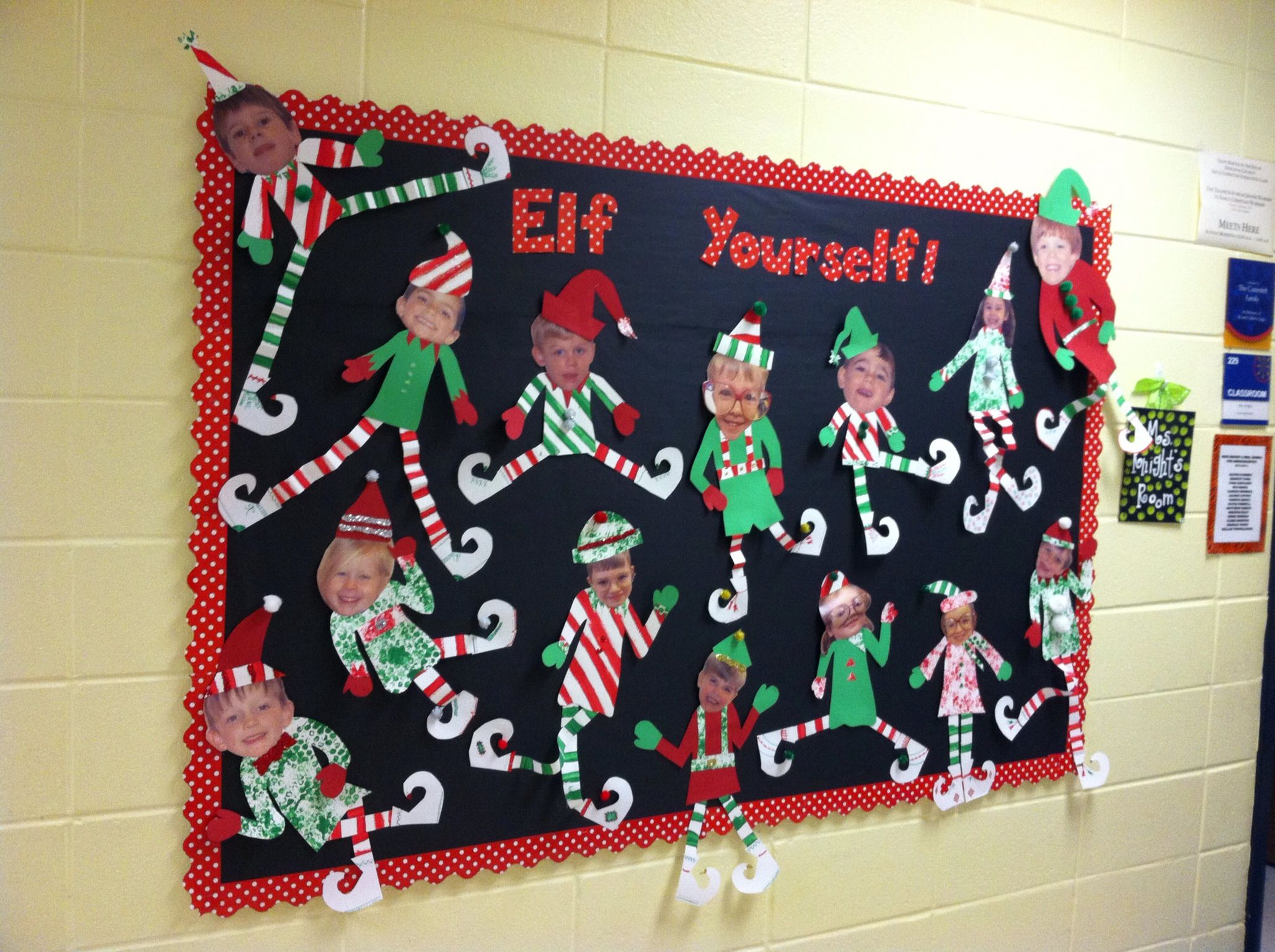 Christmas Bulletin board Holiday crafts for kids