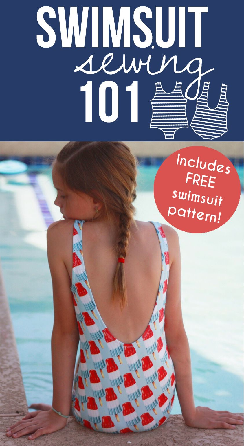 571a557415aff Are you ready to sew swimsuits  Get started here with the FREE (girl s  sizes 2-12) Poolside Swimsuit pattern and step-by-step video tutorial!