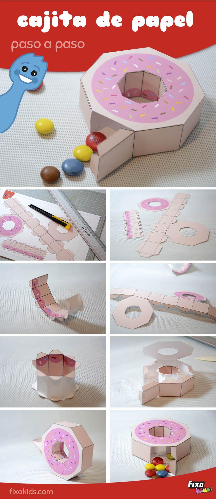 Cómo hacer una caja original para guardar golosinas o dulces  #manualidades #descargable
