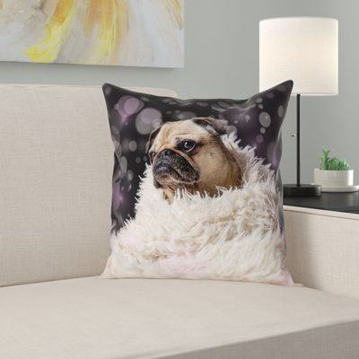 Latitude Run Hansard Fancy Pug Pillow