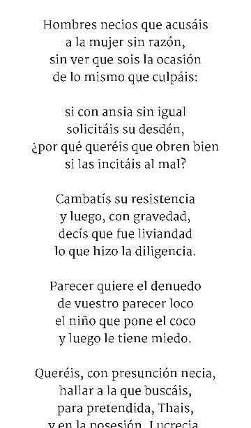 By Sor Juana Inés De La Cruz You Foolish Men Who Lay The