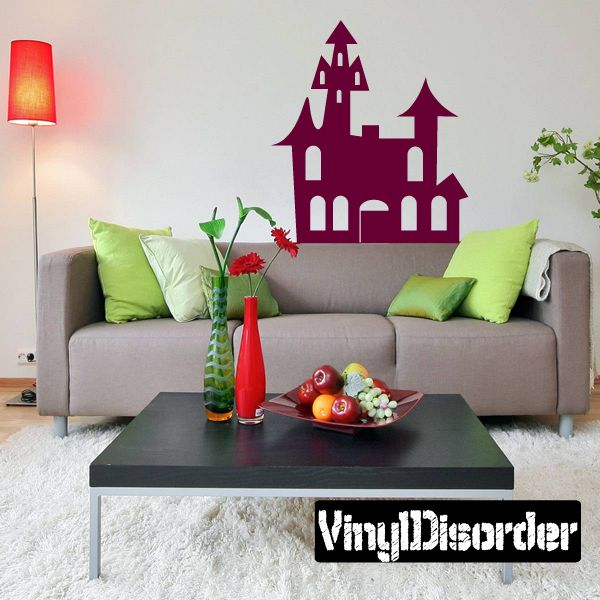 Halloween Haunted House Wall Decal - Vinyl Decal - Car Decal - AL124