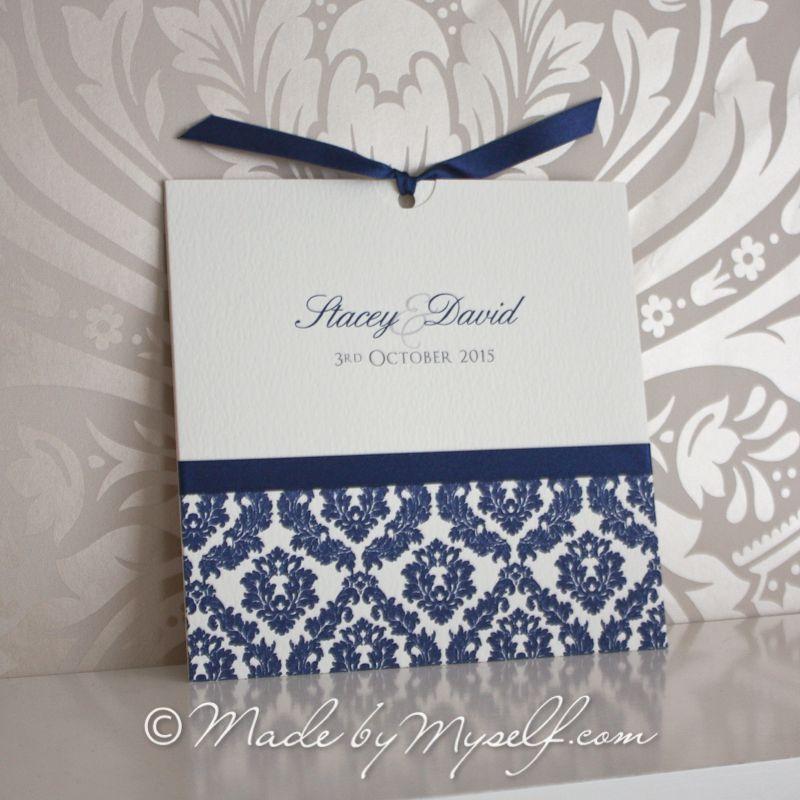 Damask Pocket Style Wedding Invitation | tarjetas boda | Pinterest ...