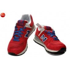 (dRAiWt)-[W47C] New Balance ML574UR Homme Rouge Bleu Gris baskets
