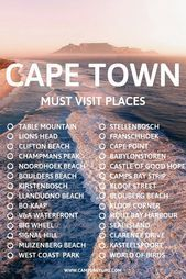 Ultimate Cape Town Bucket List For First Time Visitors