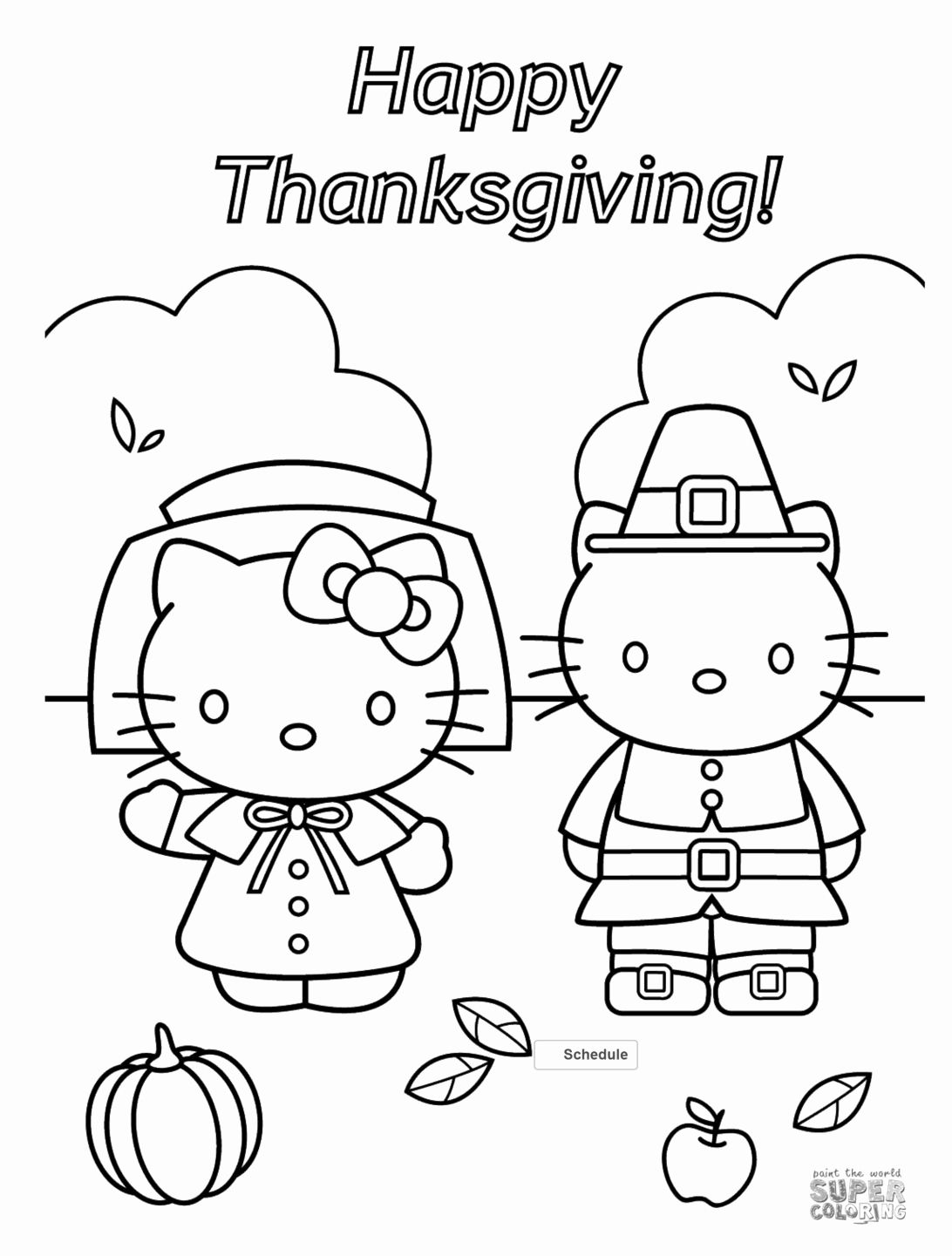 Free Printable Coloring Pages For Kids Fall Hello Kitty Coloring Thanksgiving Coloring Pages Hello Kitty Colouring Pages [ 1441 x 1092 Pixel ]
