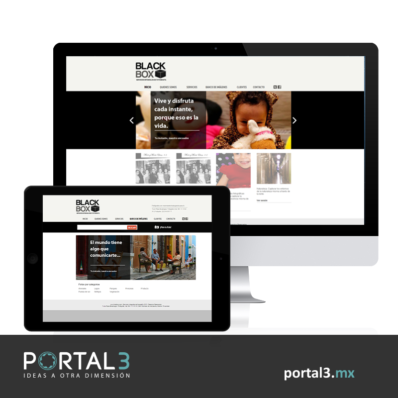 Diseño web para Estudio Black Box   #Fotografía #Photography http://portal3.mx/