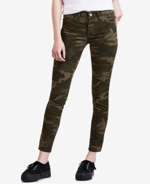 Levi's 711 Skinny Ankle Jeans - Green