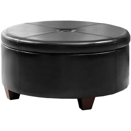 Remarkable Winston Large Round Button Top Storage Ottoman Products Ocoug Best Dining Table And Chair Ideas Images Ocougorg