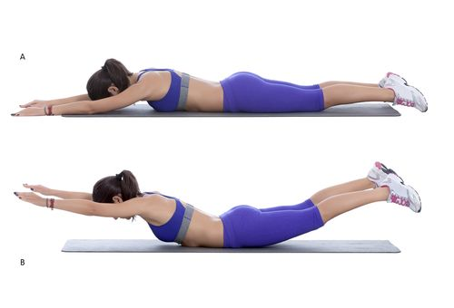 Image result for superman pose exercise