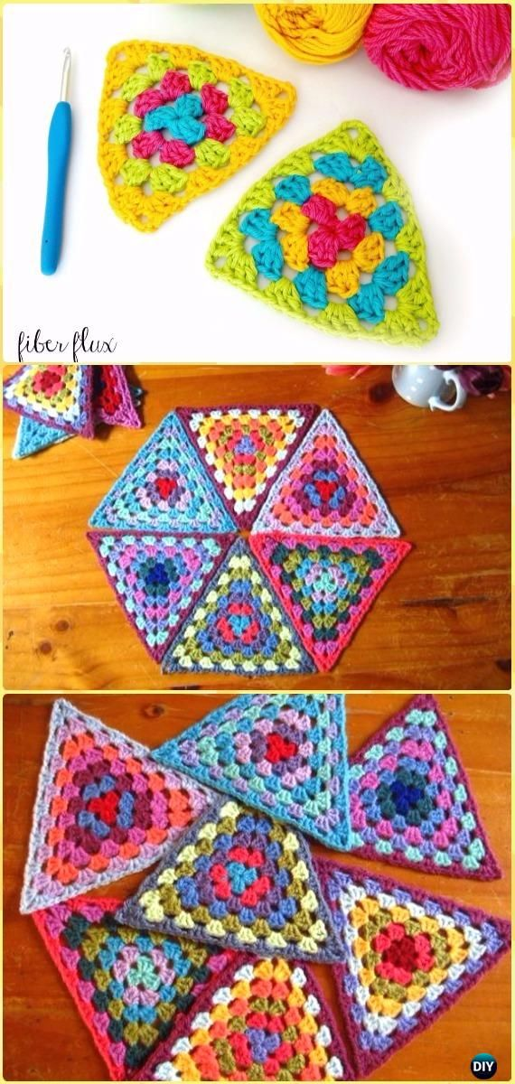 Crochet Triangle Free Patterns & Tutorials | Banderin, Tricotar y ...