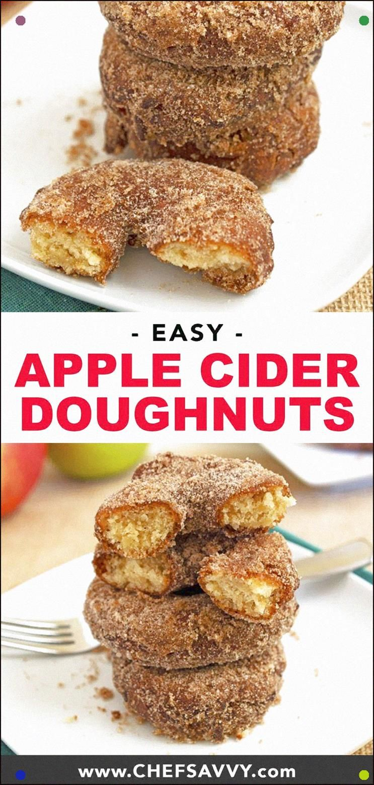 The Best Apple Cider Doughnuts - Perfect Breakfast Or Dessert For Fall These Melt In Your Mouth Donuts Are Made With Fresh Apple Cider And Your Favorite Fall Spices. The Whole Family Will Love This On A Saturday Morning #Doughnuts #Donuts #Apple #Applecider #Appleciderdoughnuts #Appleciderdonuts #Fall #Autumn #Breakfast #Dessert #appleciderchicken