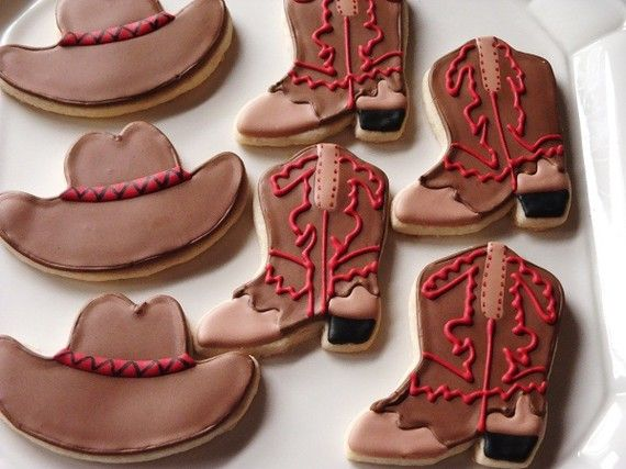 Western Cowboy Cookies 1 dozen by TheFancyLadyGourmet on Etsy, $32.00