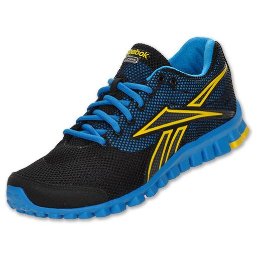 ea733d61c Reebok RealFlex Optimal VTS Mens Running Shoes | FinishLine.com |  Black/Blue/Yellow