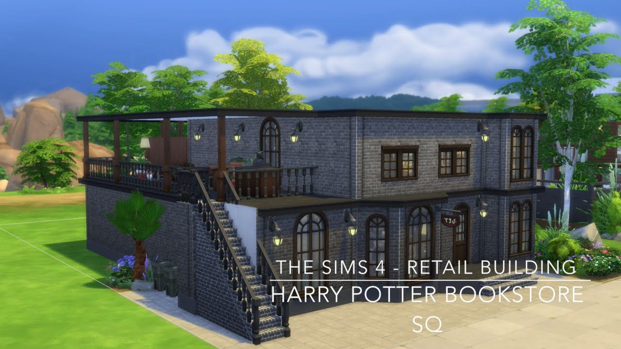 the sims 4 retail building harry potter bookstore sq sims 4