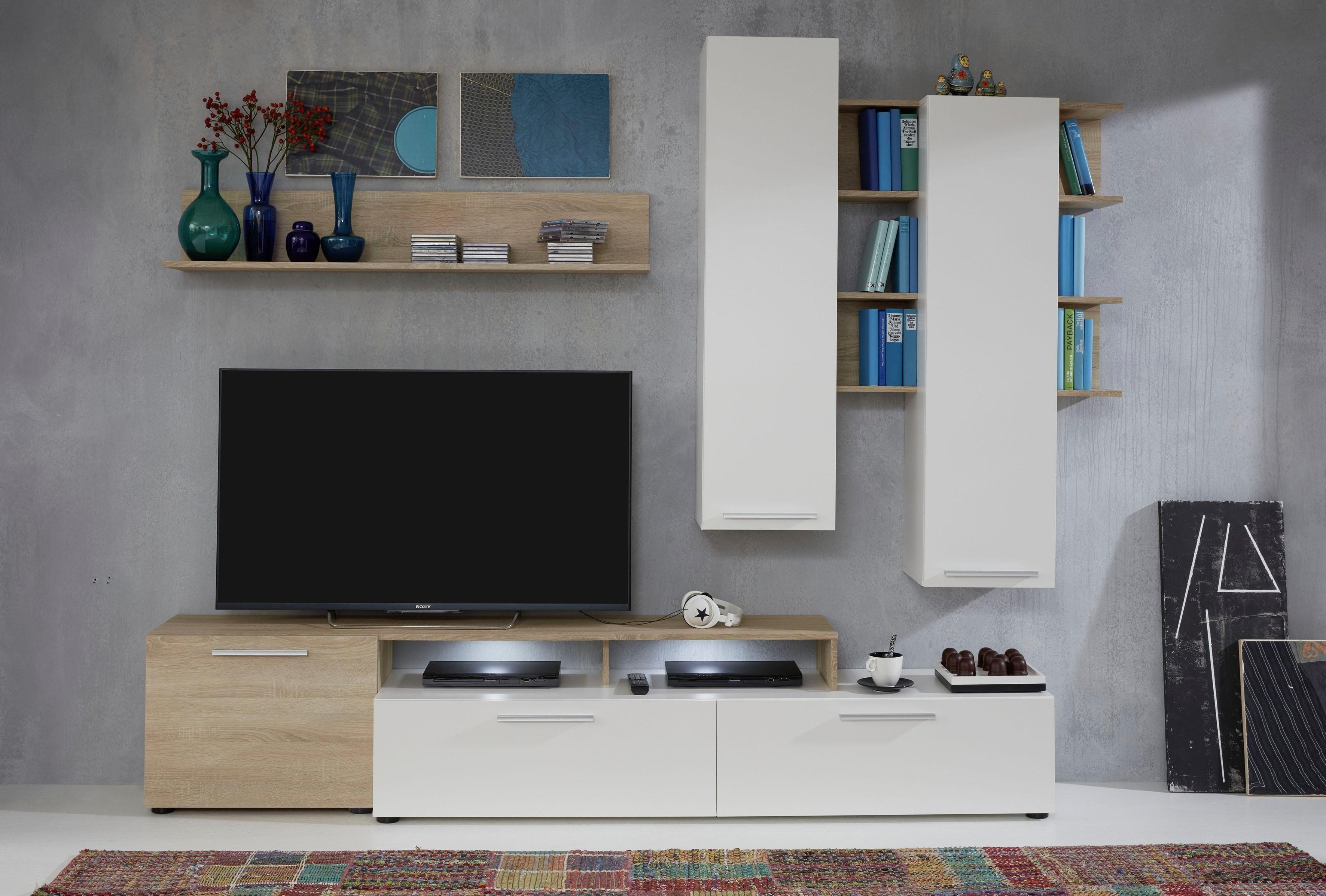 tv und hifi möbel aus holz   tv tisch weiß mit rollen   tv bank holz massiv   wohnzimmer möbel ...