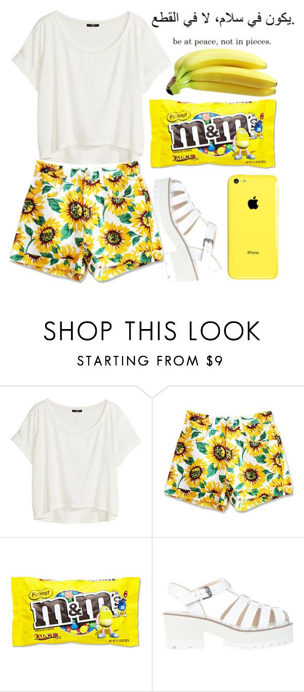 """Sunflower"" by erin-lin ❤ liked on Polyvore featuring H&M and Windsor Smith"