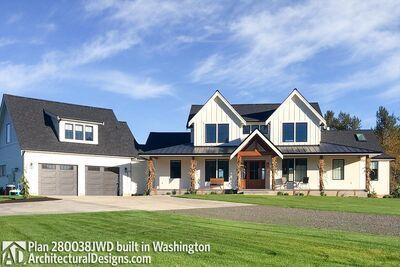 Modern Farmhouse Plan JWD es to Life in Washington