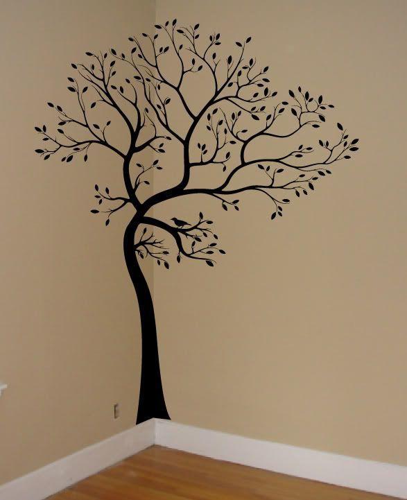 Large Big Tree Bird Wall Decaldeco Art Sticker Mural