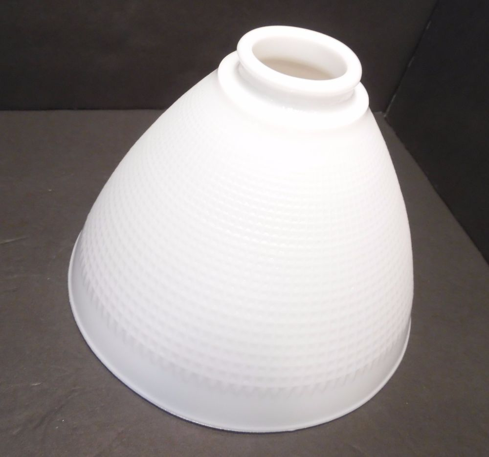 Vintage 1940s corning 8 white milk glass waffle torchiere lamp vintage 1940s corning 8 white milk glass waffle torchiere lamp shade diffuser mozeypictures Gallery