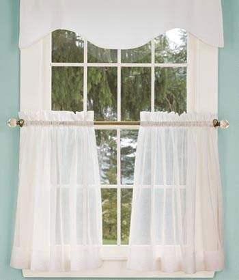 Perfect Cotton Voile Tier Curtains $29.95   $36.95