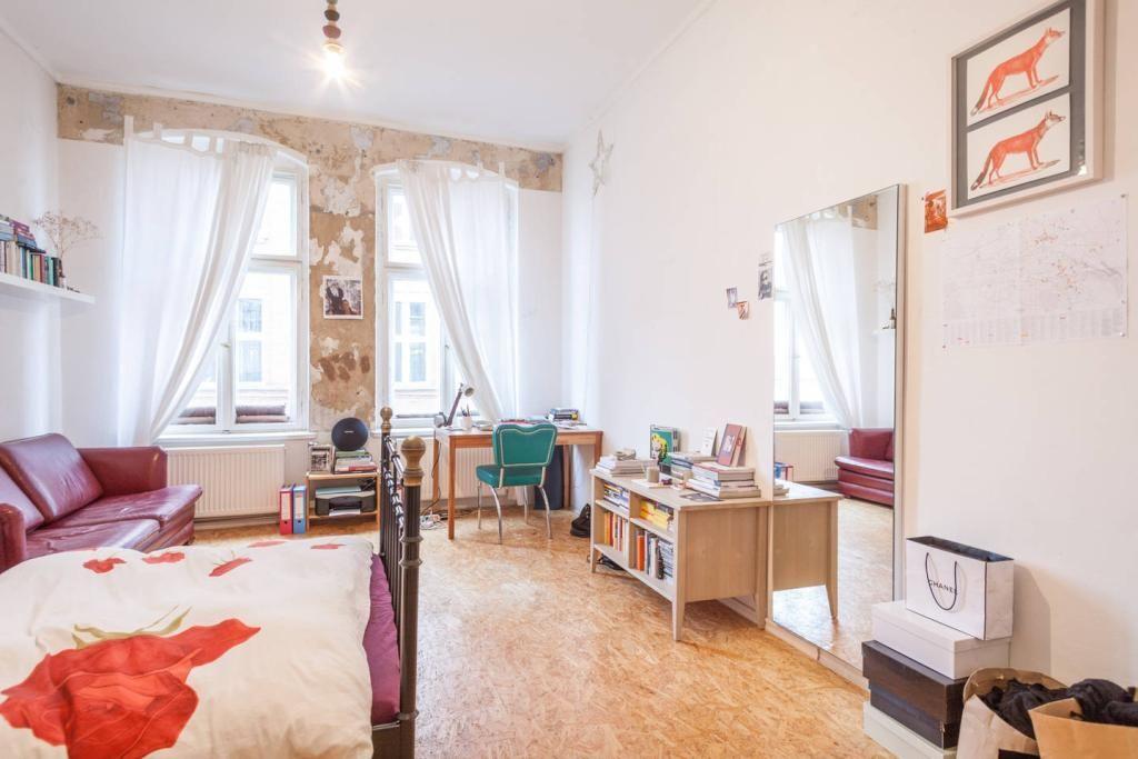 Lichtdurchfluteter Wohn- Schlafbereich im Retro-Stil #WG #Zimmer - wohn und schlafzimmer