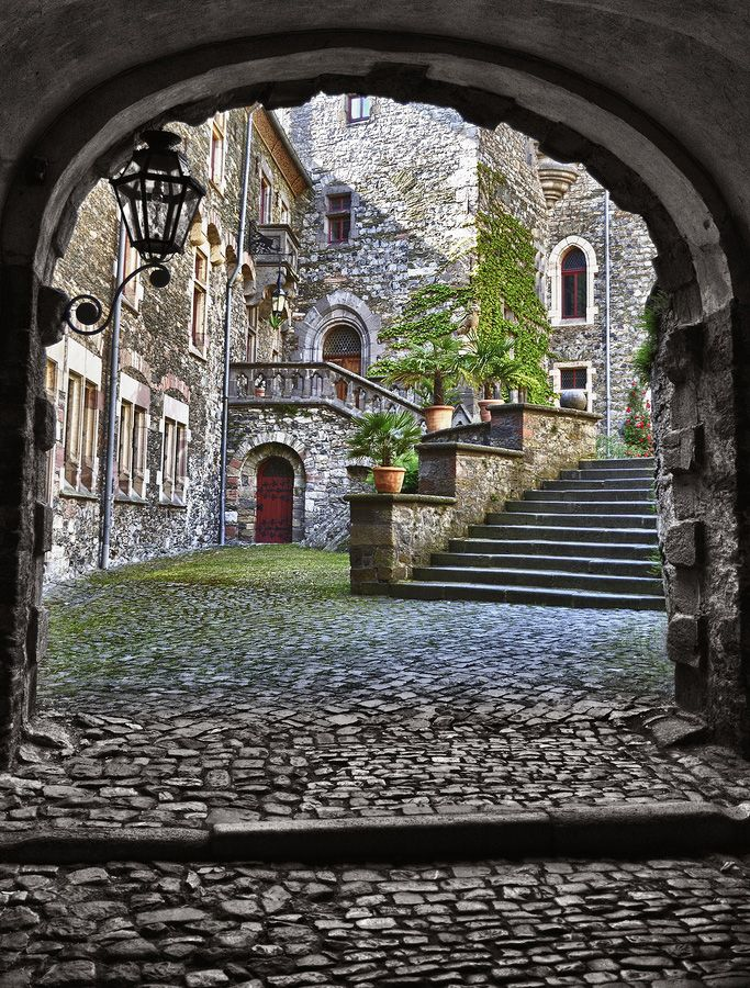 Courtyard Castle Braunfels (Hesse) Germany Beautiful
