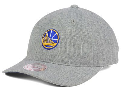 38aba757f04 Golden State Warriors Mitchell and Ness NBA Heather Grey Dad Hat ...