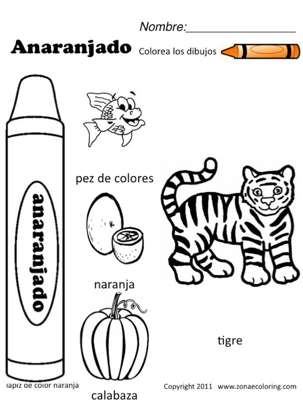 free spanish coloring worksheets