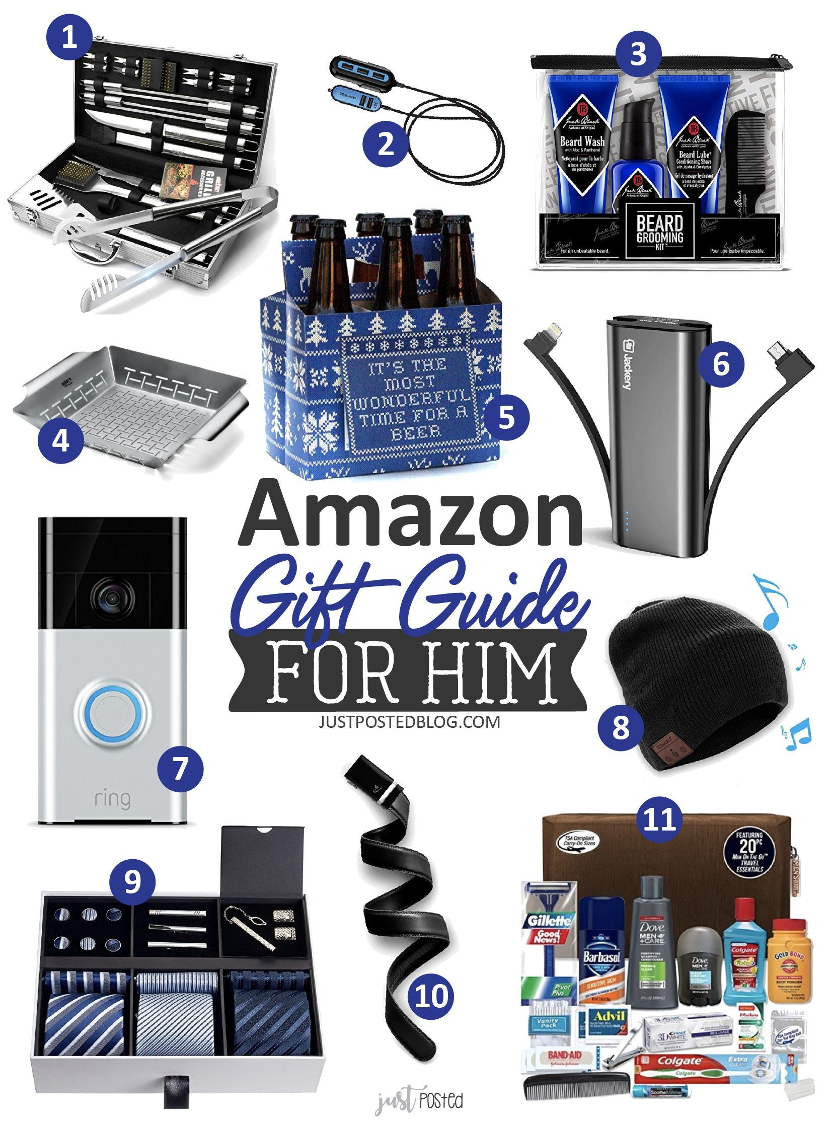 Amazon Gift Guide For Him Great List Of What To Buy On Amazon Gift Guide For Him Gifts For Brother In Law Christmas Gifts