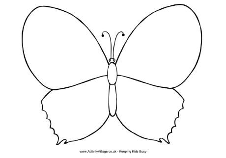 Free Worksheets  Butterfly Pictures To Colour  Free Math