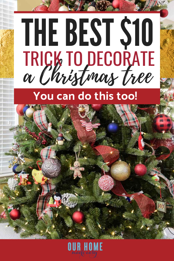 My Favorite 10 Trick For Updating Our Christmas Tree Holiday Decor Diy Christmas Garland Christmas Diy