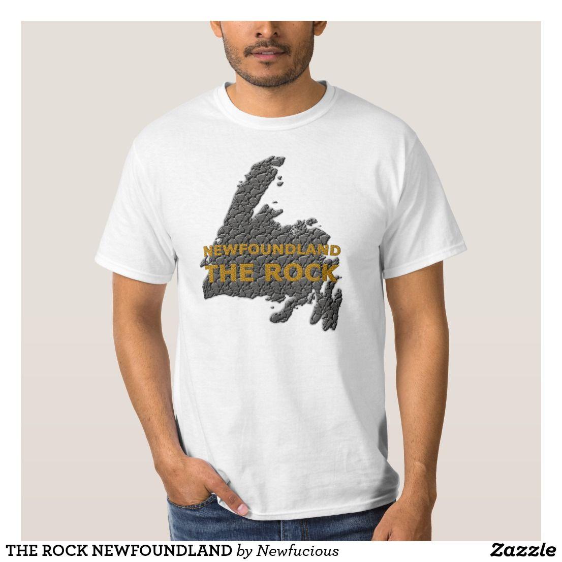 The Rock Newfoundland T Shirt Zazzle Com Shirts T Shirt Tee Shirts