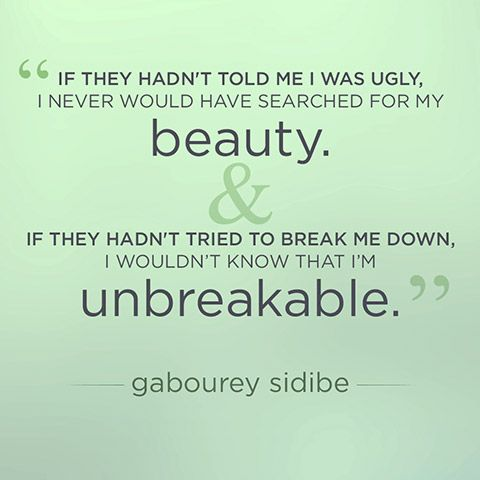 Charmant Gabourey Sidibe Quote About Beauty And Strength