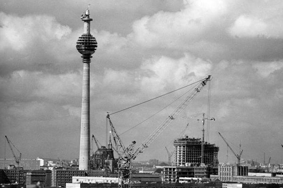 Bau Des Berliner Fernsehturms In Ost Berlin 1968 Fernsehturm