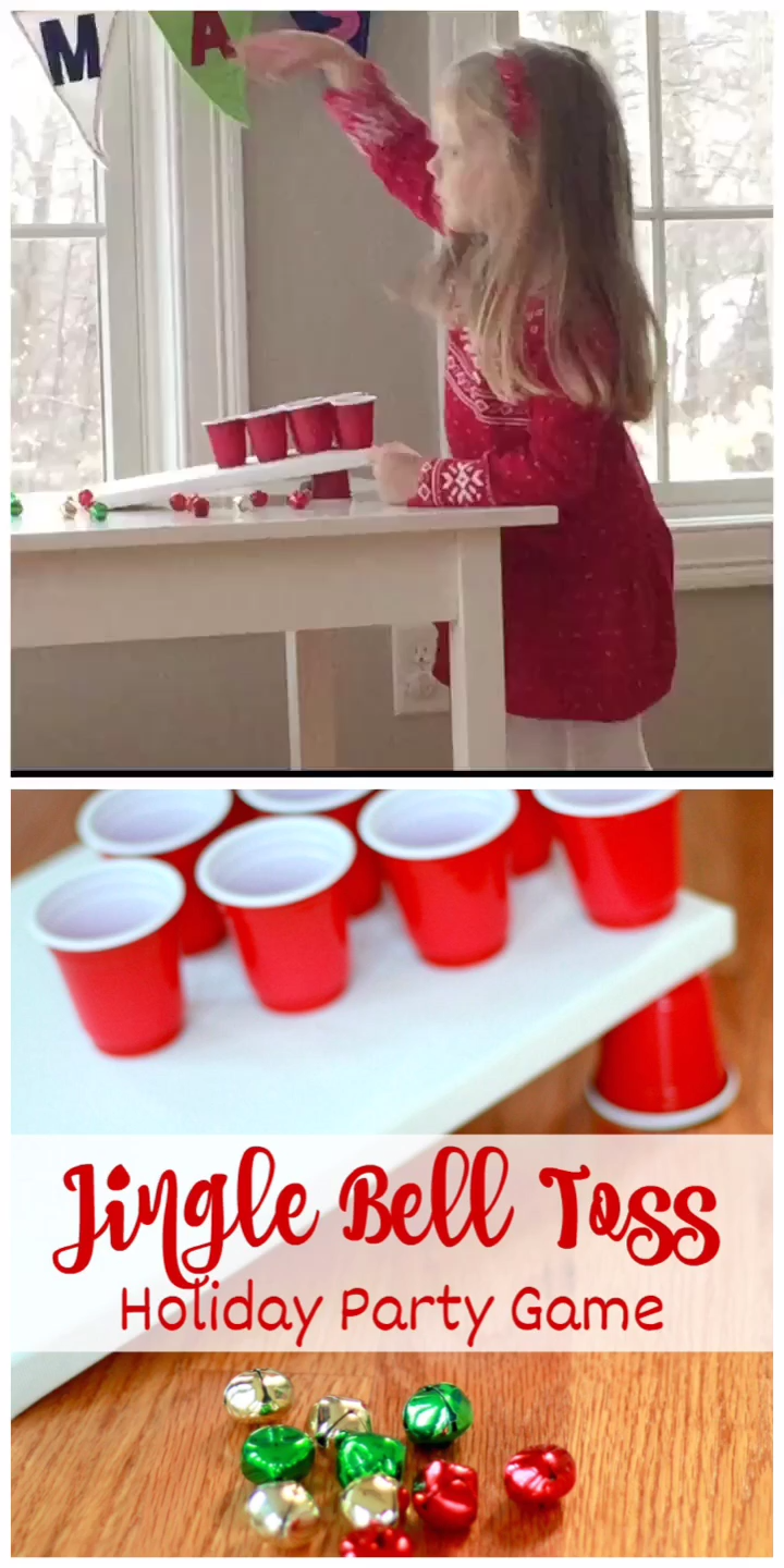 A holiday party game favorite for kids and grown ups alike. Make your own in minutes with simple supplies. The perfect Christmas party game for Christmas Eve, classroom holiday parties, and more! #partygame #holidayparty #kidsparty #gamesforkids