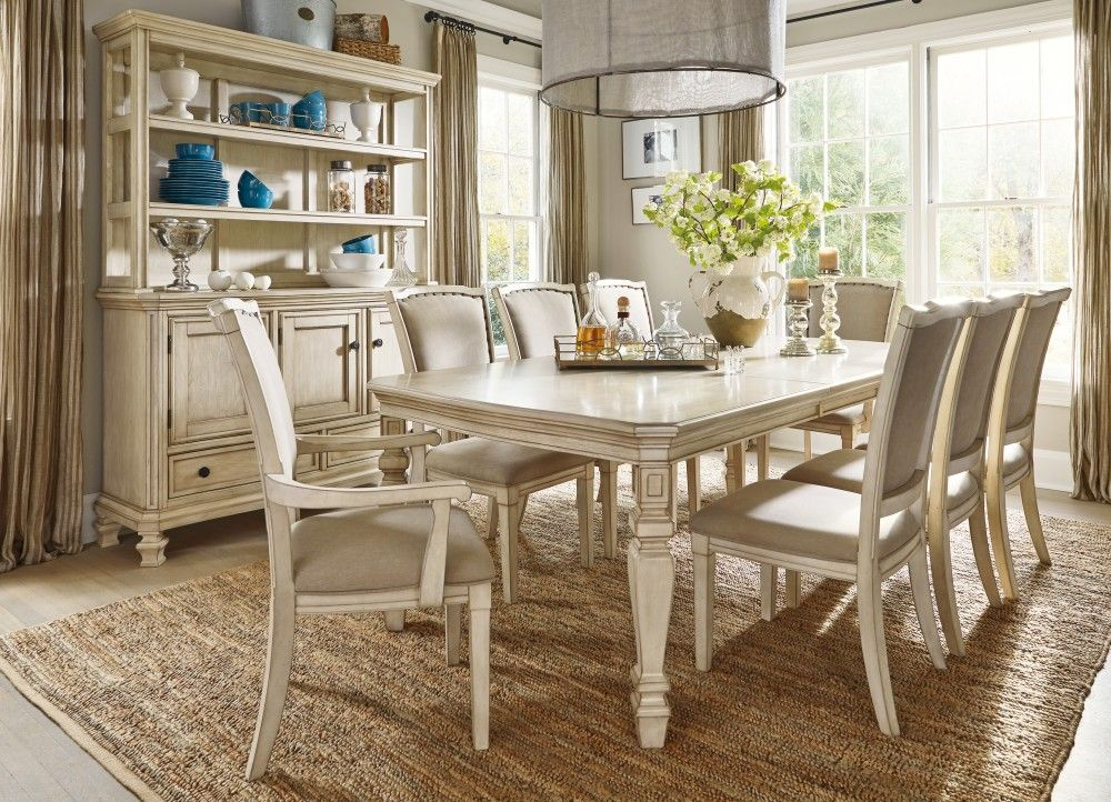 Dining Room Extension Table Gorgeous Demarlos Dining Room Extension Table 6 Uph Side Chairs & 2 Uph Decorating Inspiration