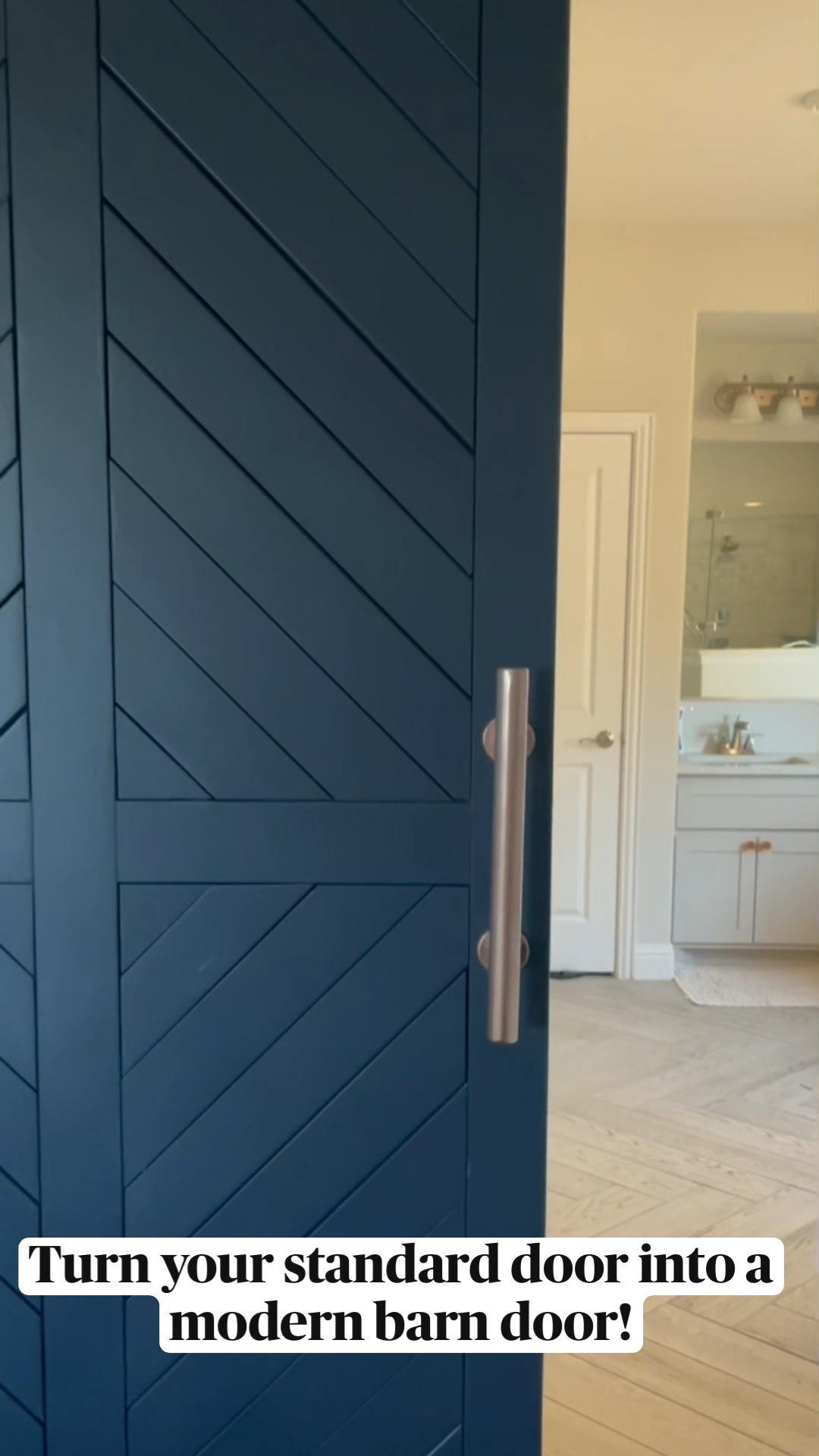 Turn your standard door into a modern barn door!