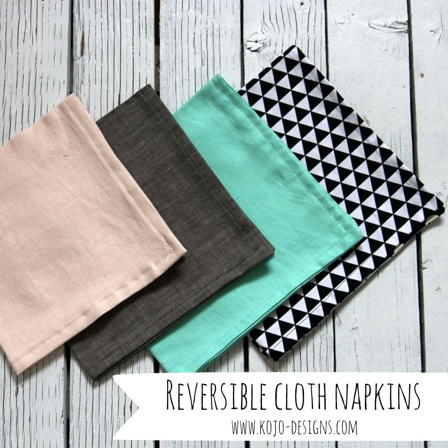 reversible cloth napkin tutorial for HomeSewn (by ...