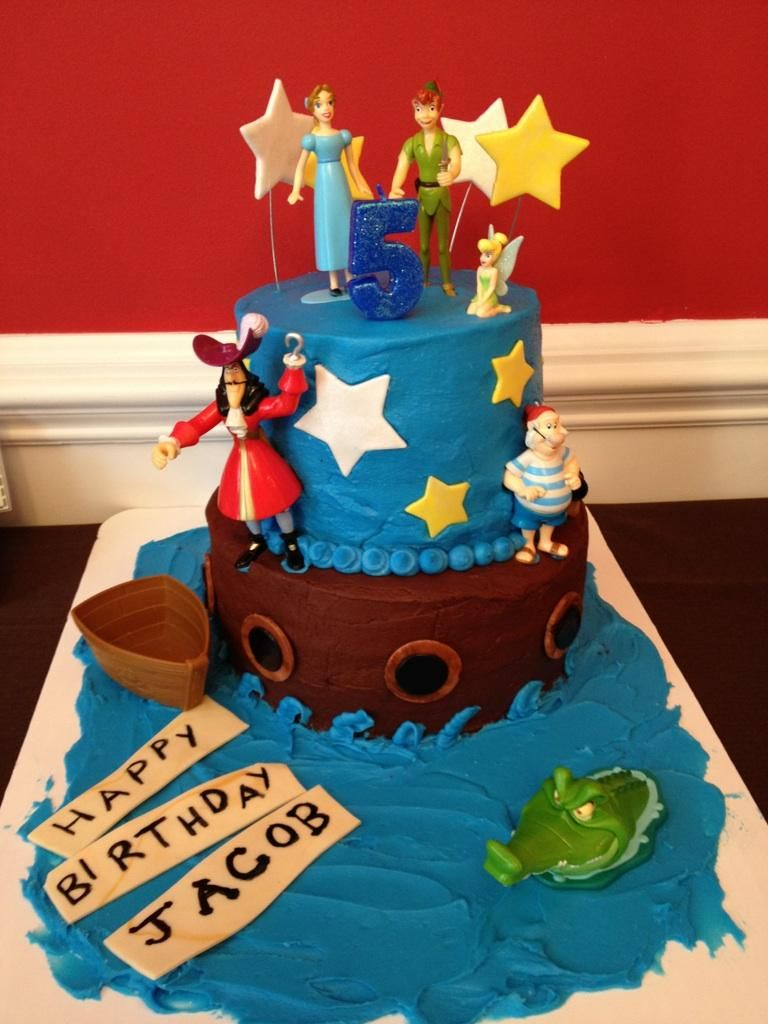 Remarkable Jacobs Peter Pan Cake Peter Pan Party Personalised Birthday Cards Paralily Jamesorg